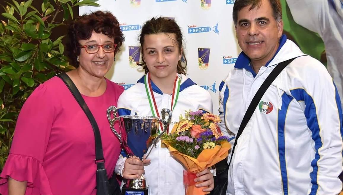Arianna Scollo Vice Campionessa Italiana della Spada Categoria Allieve
