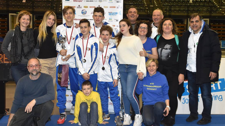 I RAGAZZI/ALLIEVI DI SPADA VICE CAMPIONI D'ITALIA A SQUADRE